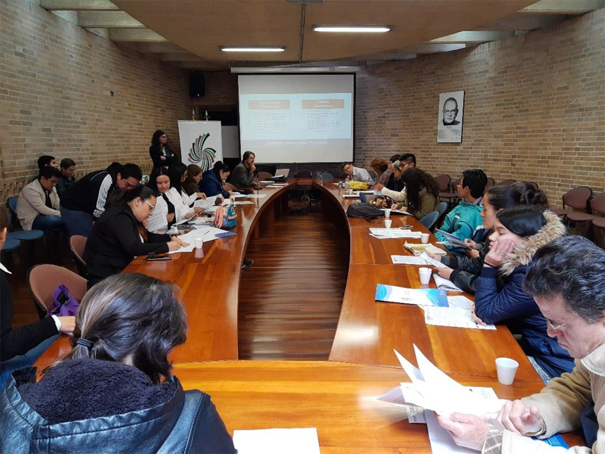 Through training sessions, several people participated in the open-town council meetings held in October of 2019. Photo: Public Policy and Public Management Analysis Research Group.